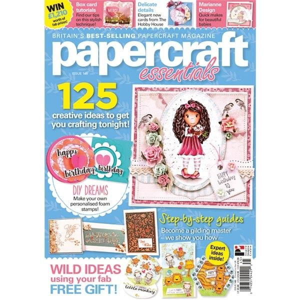 The new issue or Papercraft Essentials Magazine #145 is out with a super cute zoo animal stamp set and embossing folder designed by Vicky Welsby. Find it at CraftStash {Affiliate}