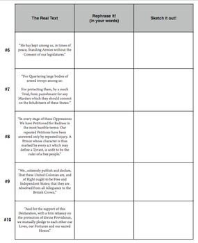 all worksheets declaration of independence worksheets printable worksheets guide for. Black Bedroom Furniture Sets. Home Design Ideas