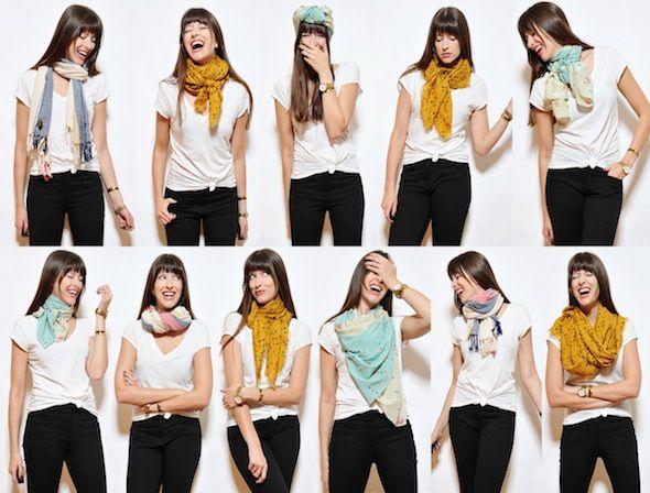 Différents types d'écharpes