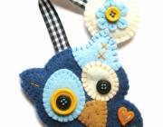 Segnalibri, segnalibro gufetto blu