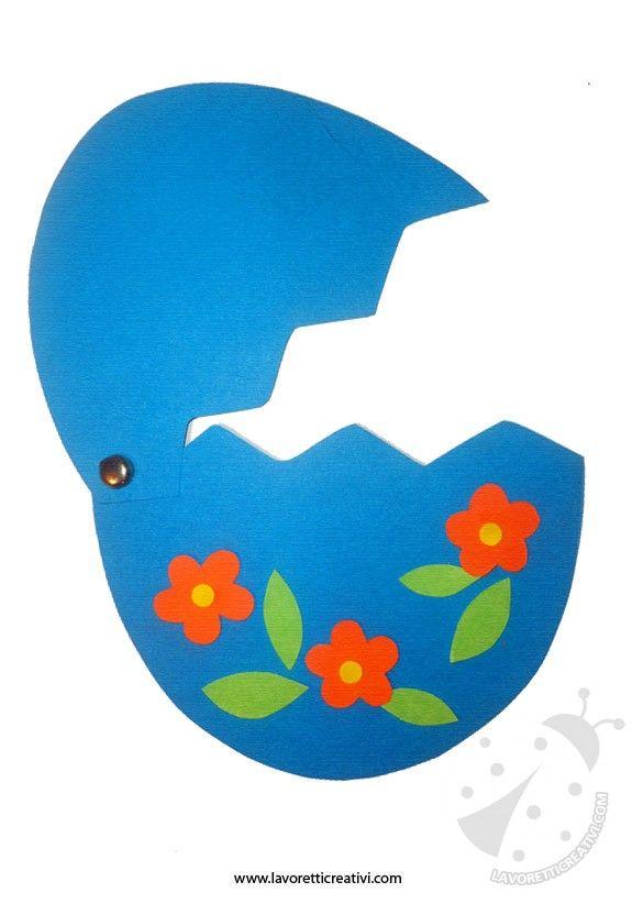Un simpatico pulcino all'interno di un uovo da realizzare per Pasqua. Vediamo ora nel dettaglio il materiale e i passaggi da eseguire. Sagome da stampare
