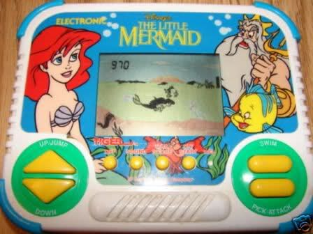 Little Mermaid hand held game! Aww I was attached to this!