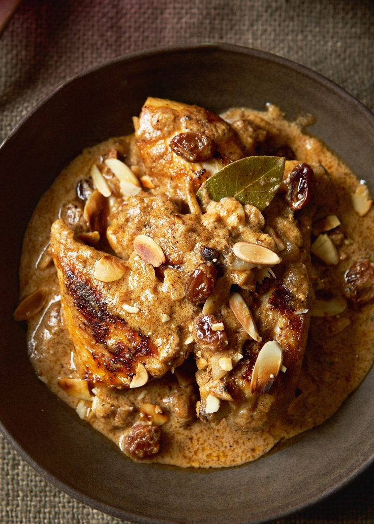 Royal Chicken Cooked in Yoghurt - Madhur Jaffrey