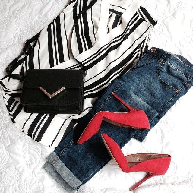 Happy Friday! Let the weekend begin..... ❤ Top €11, Jeans €17, Shoes €16, Handbag €8 #Primark #fashion #TGIF