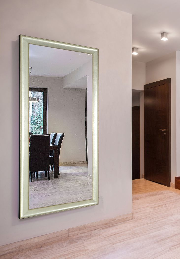 American Made Rayne Vintage Silver Extra Large Mirror Dv055 Suggested Retail