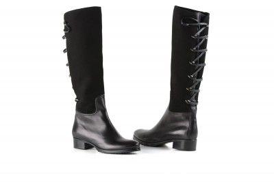 Le Pepe black lace boots