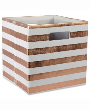 Design Import Storage Cube Stripe Square Red In 2019 Products Cube Storage Storage Storage Bins