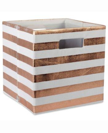 Design Import Storage Cube Stripe Square Red In 2019 Products Cube Storage Storage Storage Bins