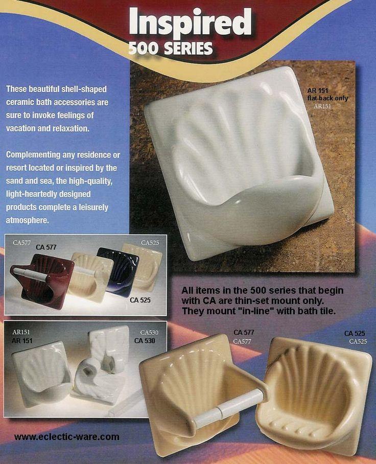AC Product ceramic towel bars, ceramic TP holders, ceramic soap dishes, ceramic recessed soap dishes, ceramic shower caddy, ceramic shampoo caddy, ceramic toothbrush holders - Eclectic-ware