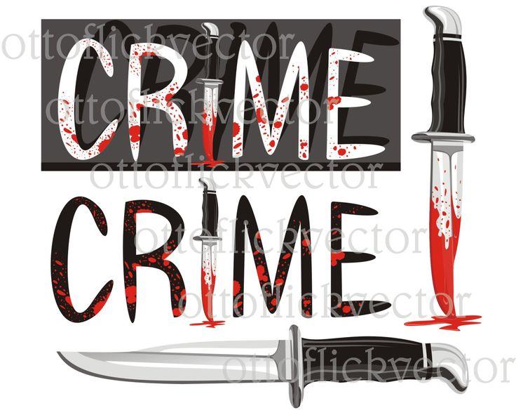 CRIME VECTOR CLIPART, Blood bloody knife eps, ai, cdr, png, jpg, blood spot, crime bleed, murder, investigation, crime scene evidence by ottoflickvector on Etsy
