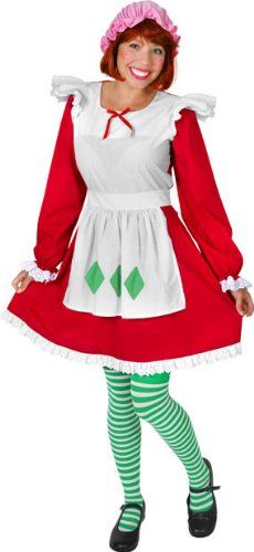 amazon com  adult strawberry shortcake costume  large 10