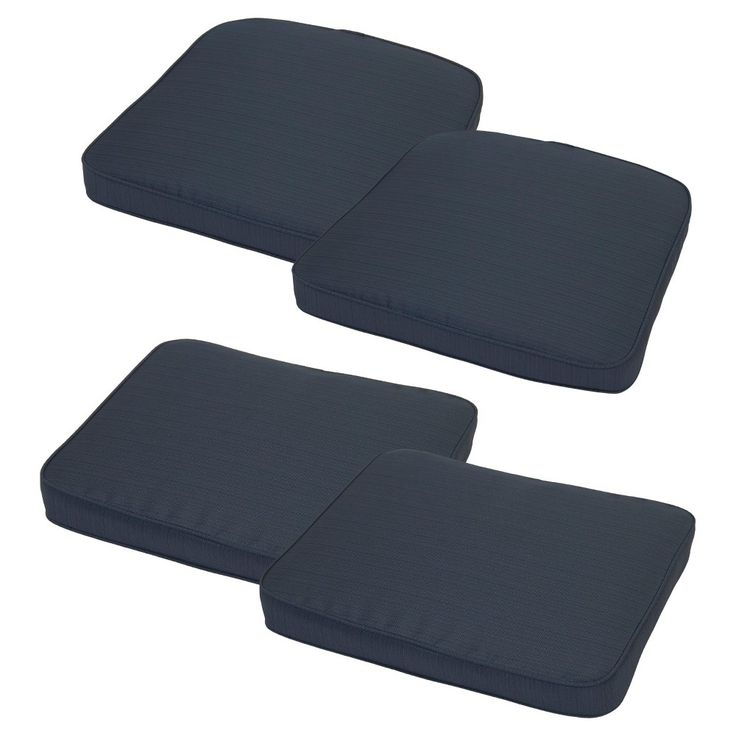 Loft 4-Piece Outdoor Replacement Patio Cushion Set - Navy (Blue) - Threshold