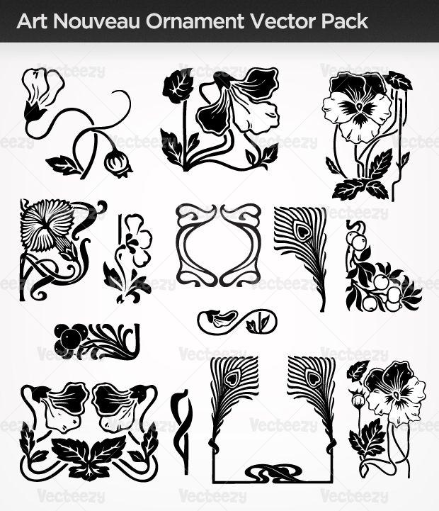 Art Nouveau | Art Nouveau Ornament Vector Pack - Vecteezy! - Download Free Vector ...