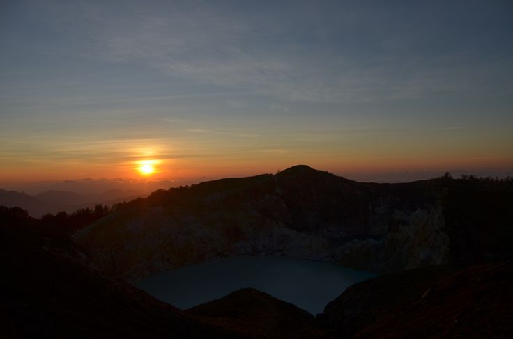 Sunrise at Kelimutu crater - Indonesia, Flores NTT.