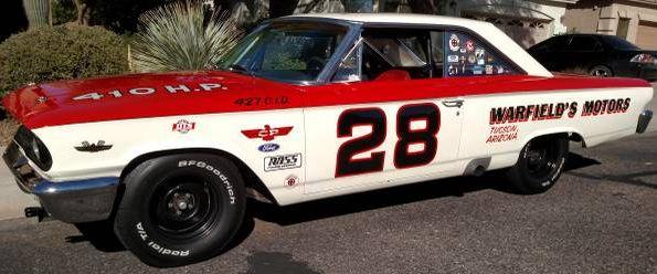 1963 ford 427 Galaxie fastback nascar racer