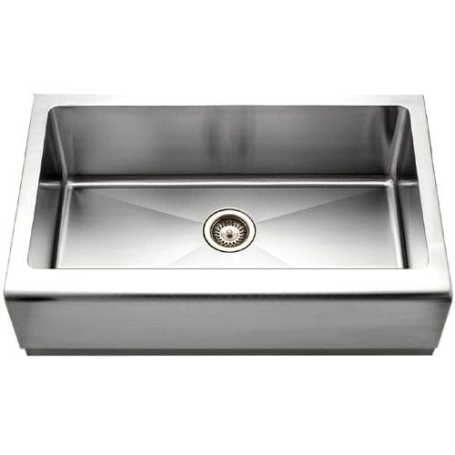 Availability: Usually Ships in 2 to 3 Business Days 33 Inch Stainless Farmhouse Sink Made from a durable stainless steel mix of nickel and chrome make this farmhouse sink the perfect choice. A generou