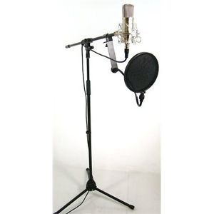 Complete Recording Studio Microphone Package Set Mic Stand Filter Bad Axx