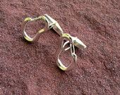 Climbing Locking Carabiner Earrings Sterling Silver Jewelry. $55.00, via Etsy.