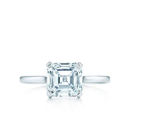 Engagement Rings   Print   Square Step Cut