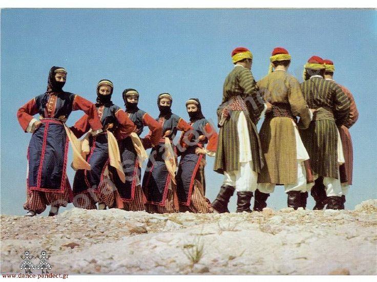 Traditional folk costumes from Farasa, Cappadokia, Minor Αsia, Easter dance/Πασχαλινος χορος απο τα Φαρασα της Καππαδοκιας.
