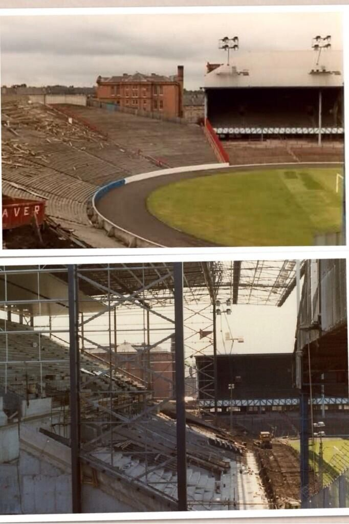 Copland Road before & during reconstruction
