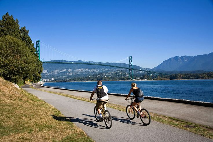 Cycling in Stanley Park, Vancouver | How to make the most of an activity based trip to British Columbia | Weather2Travel.com #bc #canada #travel #adventure #hiking