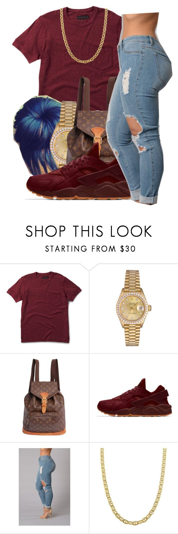 """""""Bad girl✨ Usher"""" by maiyaxbabyyy ❤ liked on Polyvore featuring Dr. Martens, Rolex, Louis Vuitton and Fremada"""