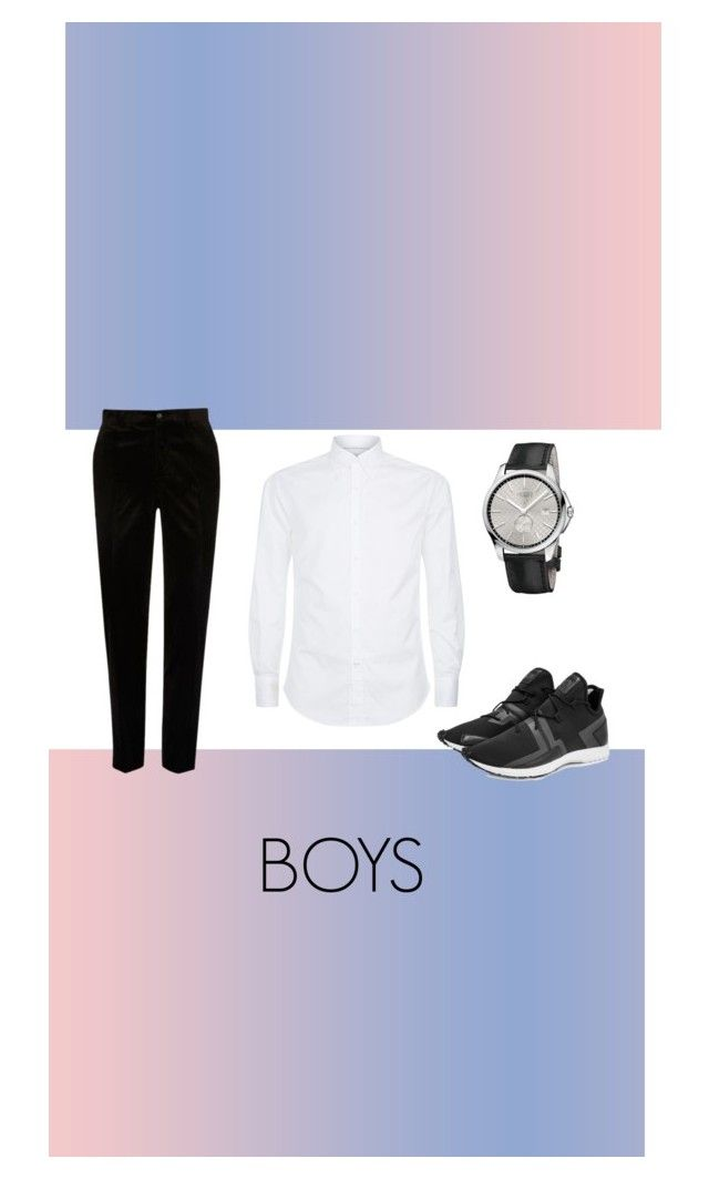 """""""Untitled #14"""" by nabillarzkynt on Polyvore featuring Brunello Cucinelli, Gucci, Y-3, River Island, men's fashion and menswear"""