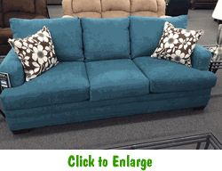 Caprice Mermaid Sofa By Simmons At Furniture Warehouse | The $399 Sofa Store  | Nashville,