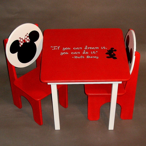 Mikey And Minnie Mouse Table And Chair Set For Kids Kids