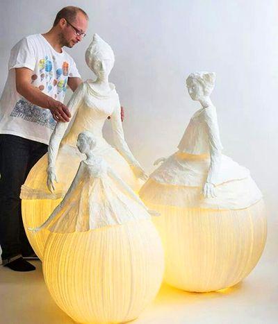 Бумажные светильники-феи французских дизайнеров Софи Мутон Пера и Фредерик Гибруне