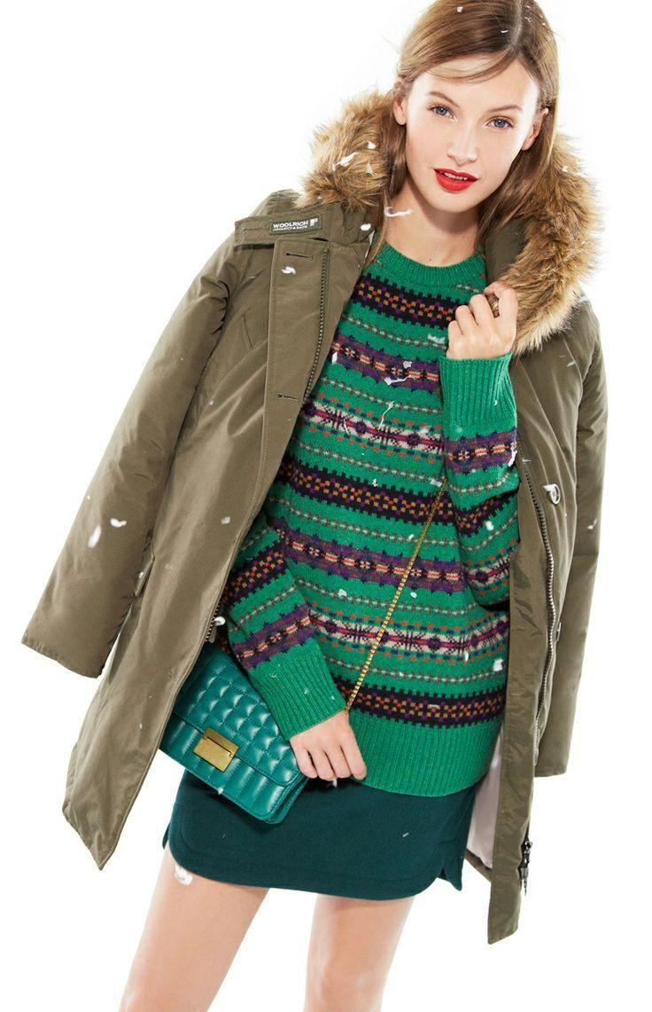 Woolrich John Rich & Bros.™ arctic parker, J.Crew shirttail mini in wool & J.Crew quilted mini-purse.