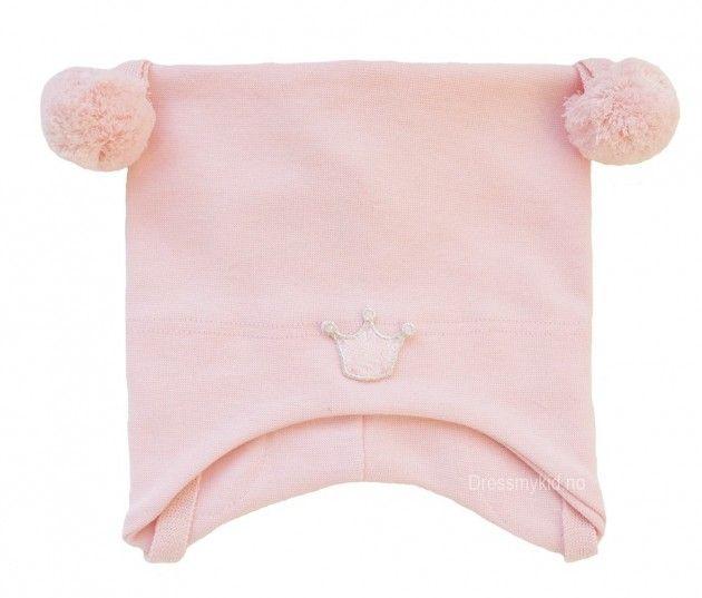 Kivat lue, fersken med dusker og krone | DressMyKid.no - Barn og baby - Alltid gode tilbud