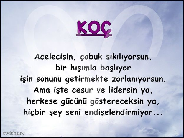 #Koç #koçburcu #astroloji