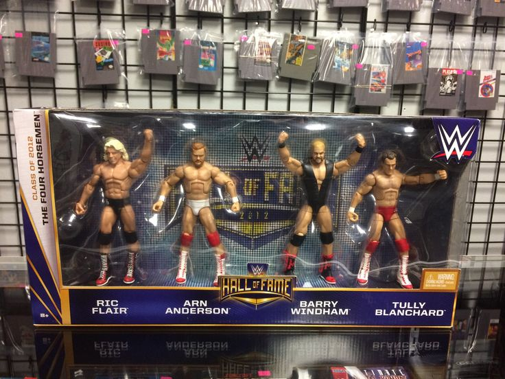 WWE Hall Of Fame Class Of 2012 The Four Horsemen Rick Flair,Arn Anderson,Barry Windham,Tully Blanchard 4-pack