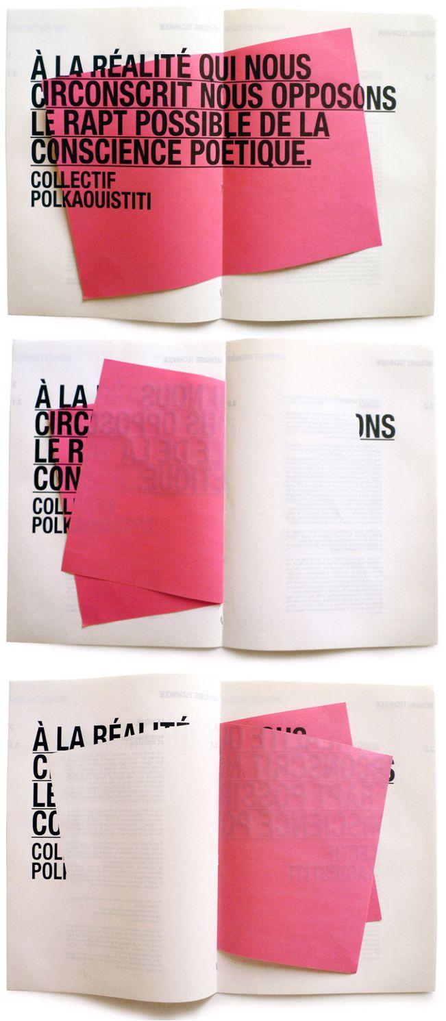 Interesting printed typography