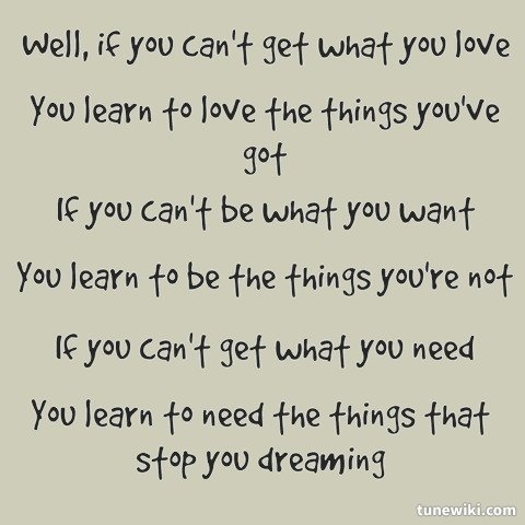 -- #LyricArt for Things That Stop You Dreaming by Passenger