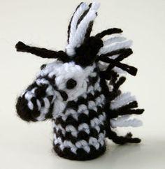 Free Pattern: Zebra Finger Puppet – #Finger #free #pattern #Puppet #zebra