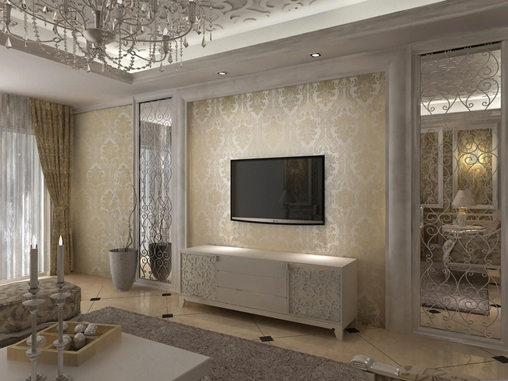 Elegant Neutral Living Room Home Pinterest