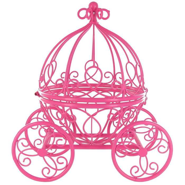 Hot Pink Princess Carriage Metal Table Top Decor | Hobby Lobby | 163964