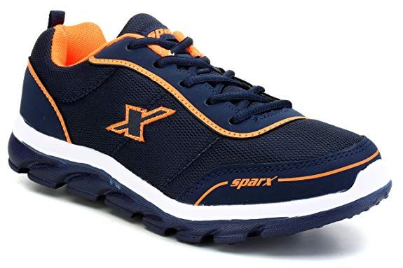Navy Blue and Orange Running Shoes