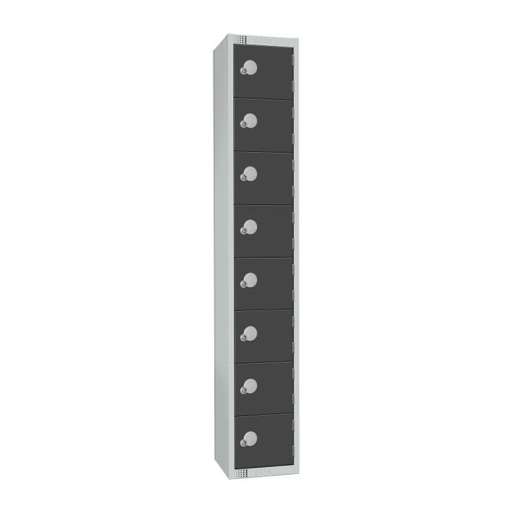 Elite Eight Door Padlock Locker Graphite Grey - GR683-P