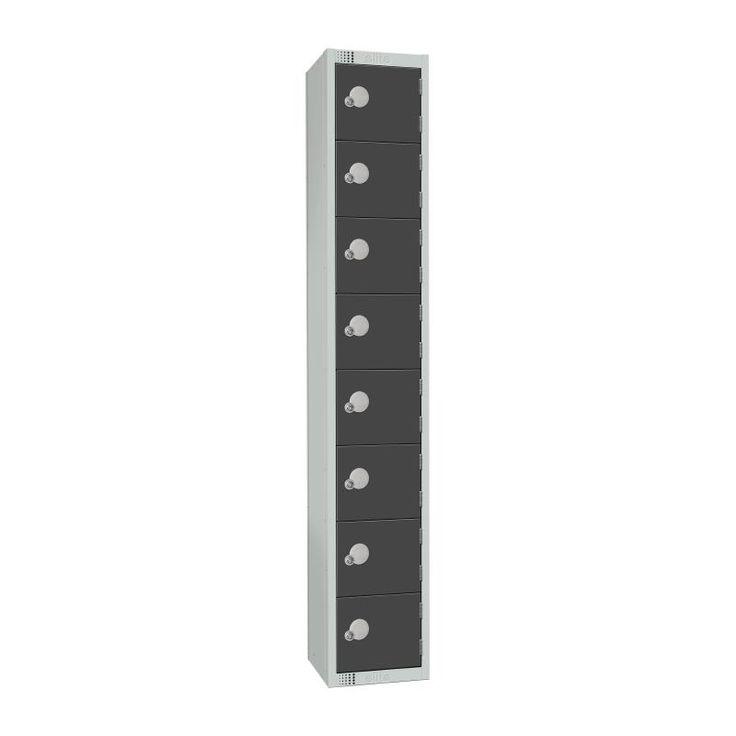 Elite Eight Door Camlock Locker Graphite Grey - GR697-C