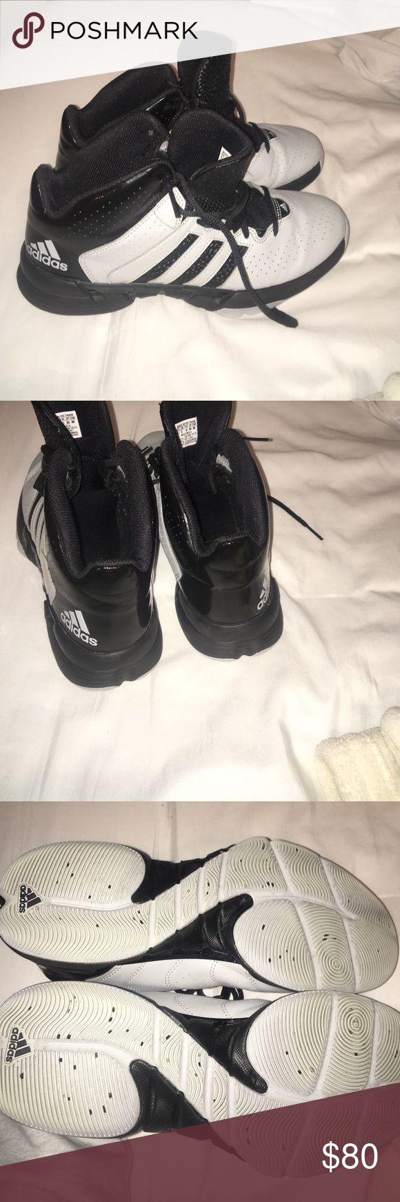 Adidas Basketball shoes Grey and black adidas basketball shoes worn once- amazing condition Adidas Shoes Athletic Shoes