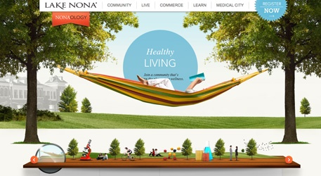 Lake Nona website. Good clean design that's  both beautiful and functional.