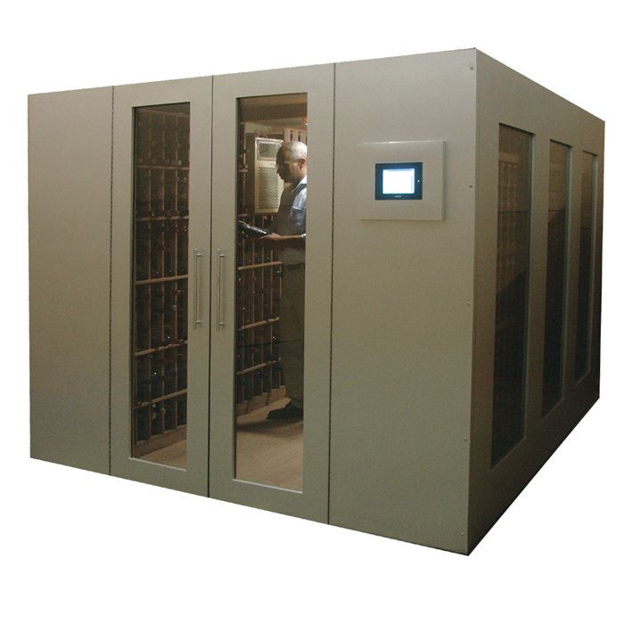 1500-Bottle Metal Walk-In Wine Vault The perfect addition to your new home!