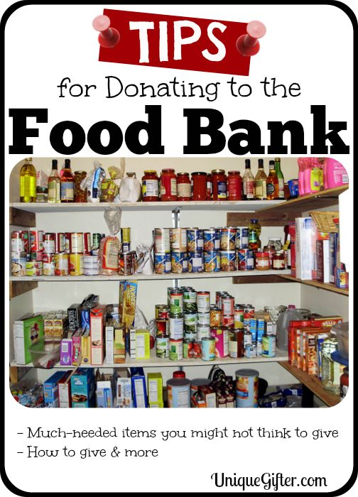 A gigantic list of tips for donating to food banks, covering the best things to donate to food banks and what can't be donated to most food banks.