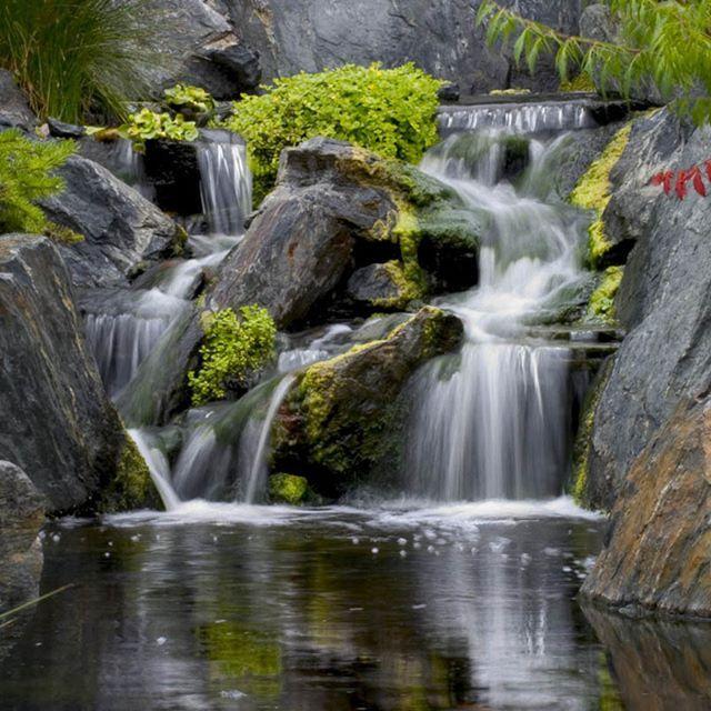 17 best ideas about backyard waterfalls on pinterest for Pond waterfall spillway ideas