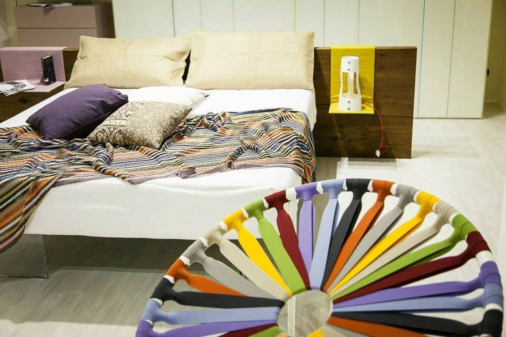 The colours of the rainbow in your bedroom @ LAGO STORE Catania. #lagodesign #interiordesign #bedroom #armchair #bed