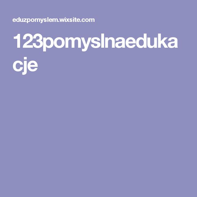 123pomyslnaedukacje